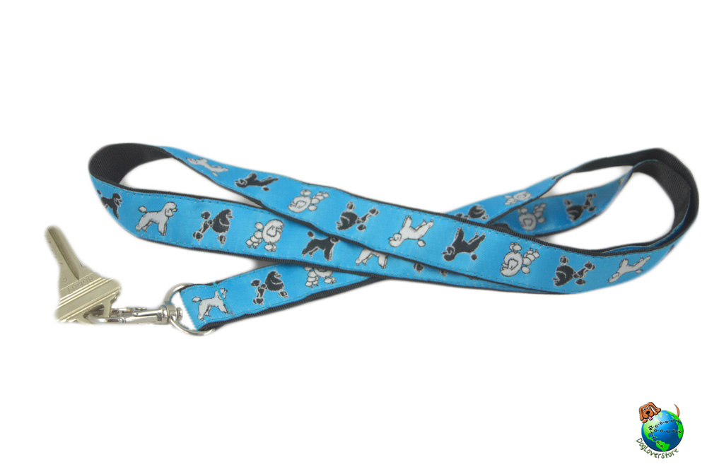 Poodle Lanyard Key Holder Badge Holder