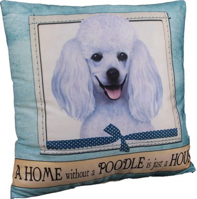 Poodle Pillow 16×16 Polyester White 1