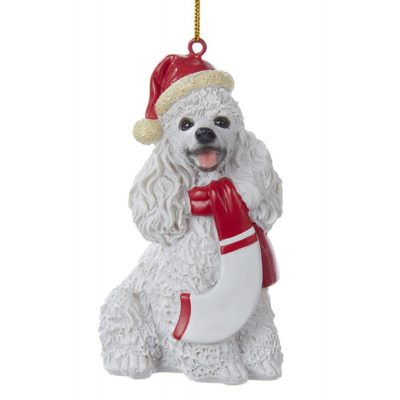 poodle-resin-ornament