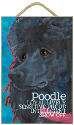 Poodle Characteristics Indoor Sign Black