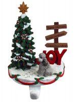 Poodle Stocking Holder Hanger Gray Sport Cut