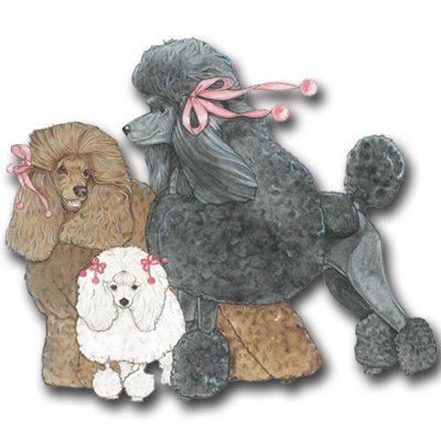 poodle-wood-magnet