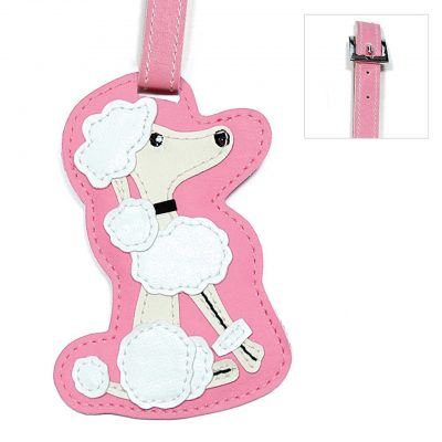 Poodle Dog Luggage Tag Briefcase Gym Backpack Travel ID 1