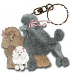 Poodle Wooden Dog Breed Keychain Key Ring 1