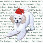 Poodle Dog Coasters Christmas Themed