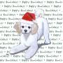 Poodle Dog Coasters Christmas Themed 1