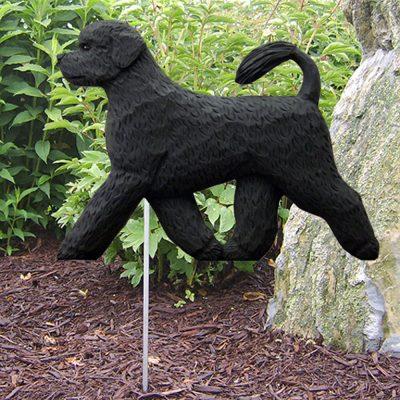 Portuguese Water Dog Garden Stake Outdoor Sign Black