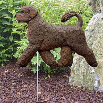 Portuguese Water Dog Garden Stake Outdoor Sign