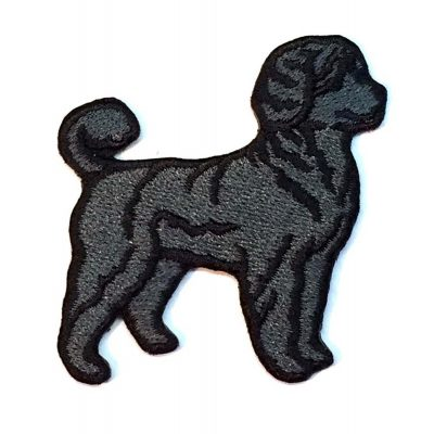 portuguese-water-dog-iron-on-embroidered-patch