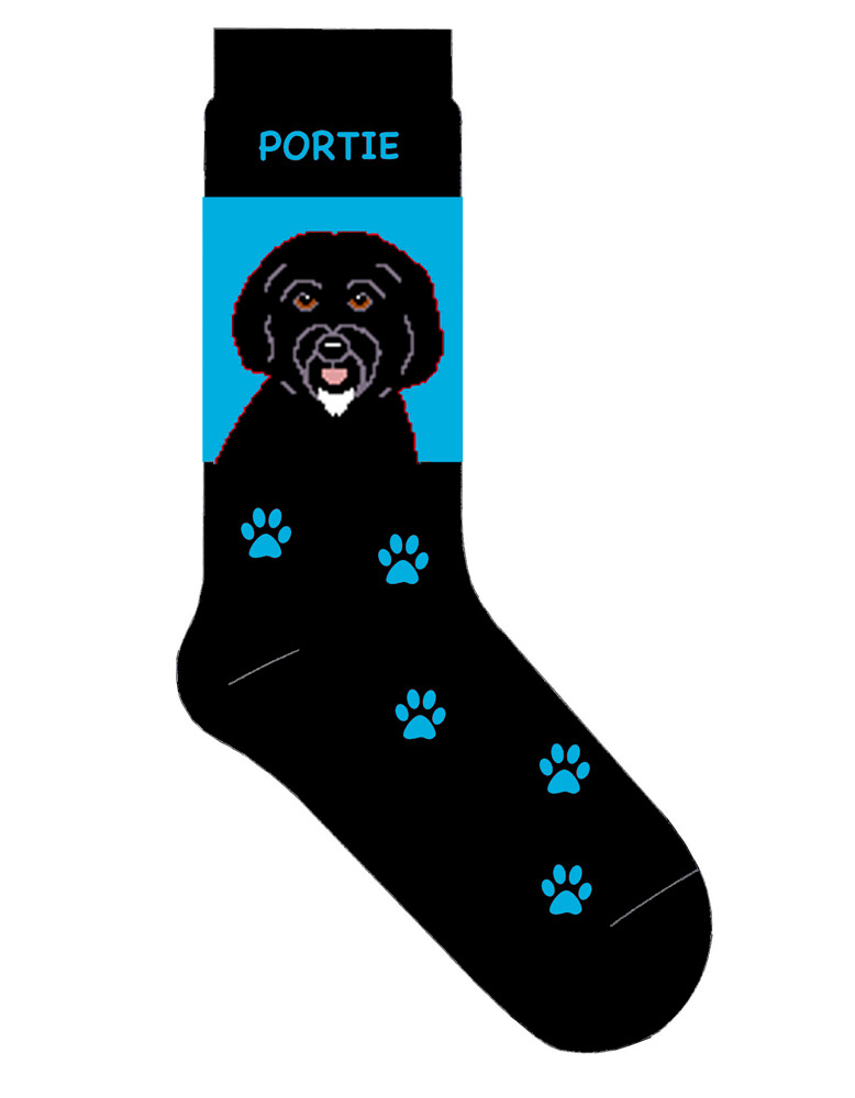 Portuguese Water Dog Socks Blue