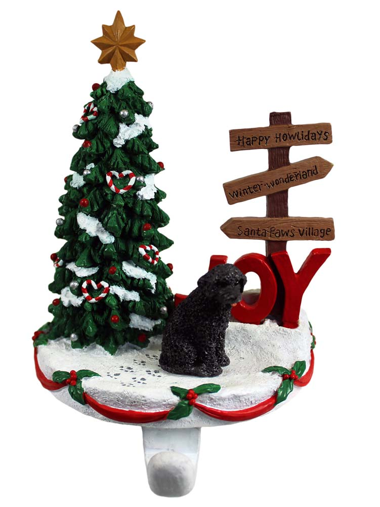 Portuguese Water Dog Stocking Holder Hanger