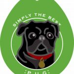 Pug Sticker 4×4″ Black 1