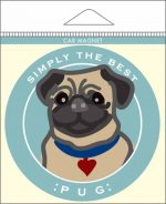 Pug Car Magnet 4x4""