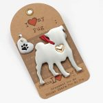 Pug Holiday Ornament & Collar Charm Set