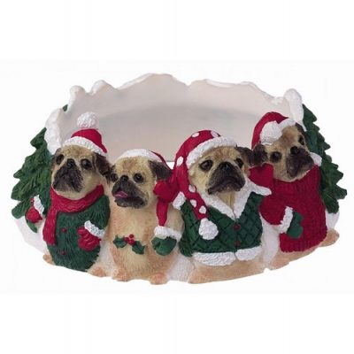 Pug Holiday Candle Topper Ring