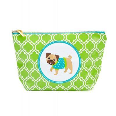 Pug Zippered Makeup Travel Bag