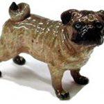 Pug Hand Painted Porcelain Figurine 1