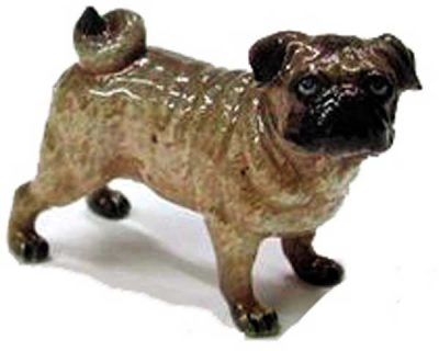 Pug Hand Painted Porcelain Figurine 1