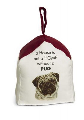 Pug Door Stopper 5 X 6 In. 2 lbs. - A House is Not a Home
