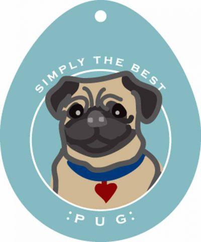 Pug Sticker 4×4″ Fawn 1