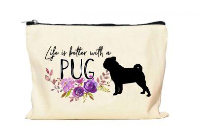 Pug Makeup bag