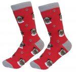 Pug Socks Red