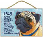 Pug Characteristics Indoor Sign Fawn