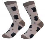 Pug Face Pattern Socks Black