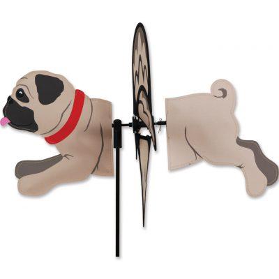 Pug Garden Wind Spinners Fawn 1