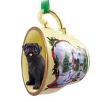 pug_black_snowman_dog_ornaments