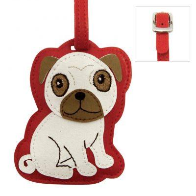 Pug Dog Luggage Tag Briefcase Gym Backpack Travel ID