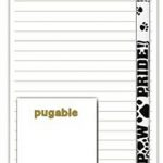 Pug Dog Notepads To Do List Pad Pencil Gift Set 1