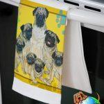 Pug Kitchen Hand Towel Fawn 1