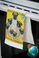 Pug Kitchen Hand Towel Fawn