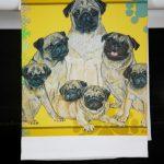 Pug Kitchen Hand Towel Fawn 2