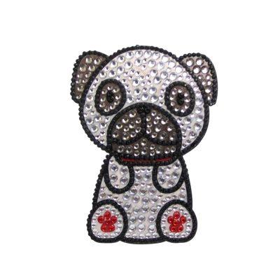 Pug Dog Rhinestone Glitter Jewel Phone Ipod Iphone Sticker Decal 1