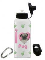 Pug Water Bottle Stainless Steel 20 oz Fawn