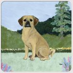 Puggle Yard Scene Coasters Set of 4