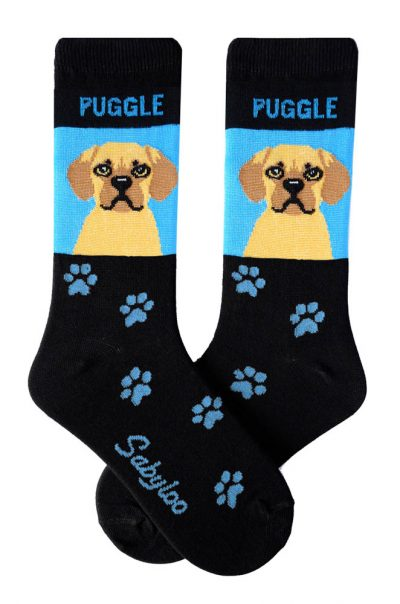 Puggle Socks - Blue & Black in Color