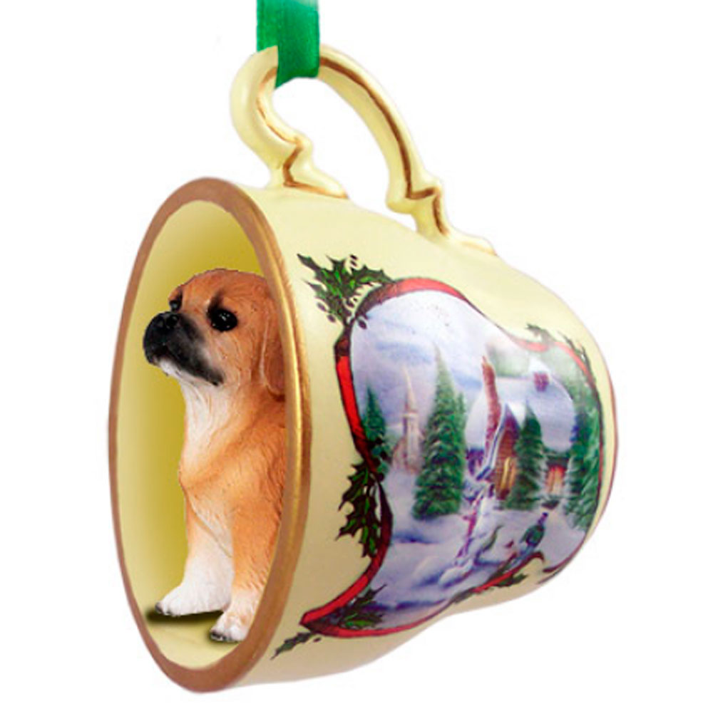 Puggle Teacup Ornament