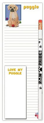Puggle Dog Notepads To Do List Pad Pencil Gift Set