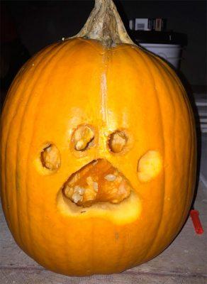 Pumpkin Dog Paw Carving