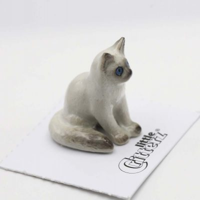 Ragdoll Kitten Porcelain Figurine