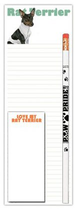 Rat Terrier Dog Notepads To Do List Pad Pencil Gift Set