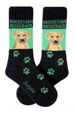Rhodesian Ridgeback Socks - Green