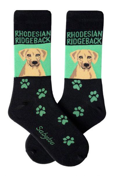 rhodesian-ridgeback-socks-green