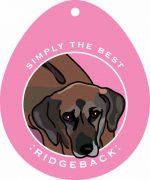 """Rhodesian Ridgeback Sticker 4x4"""""""