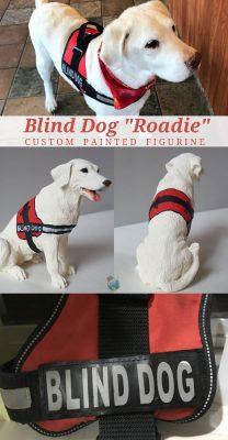 Roadie Blind Dog Custom Figurine