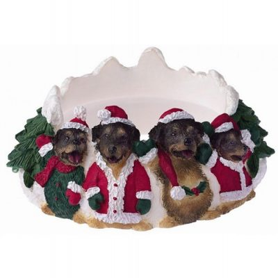 Rottweiler Holiday Candle Topper Ring 1