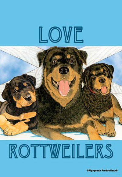 Rottweiler Garden Flag 12